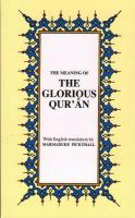 The Glorıous Qur An (Engels) Pochet